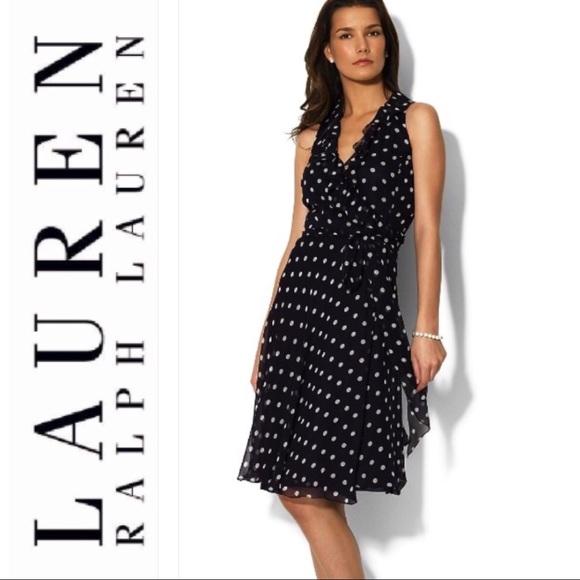 86a2759a48db Lauren Ralph Lauren Dresses & Skirts - Black & White polka dot dress